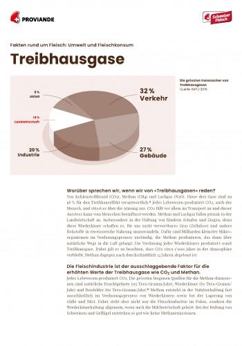 Fakten rund um Fleisch – Treibhausgase